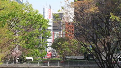 Street behind Karaoke building middle shot at West Shinjuku ビデオ