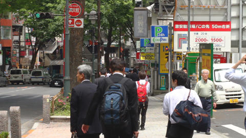 Dougen Street at Shibuya daytime middle shot ビデオ
