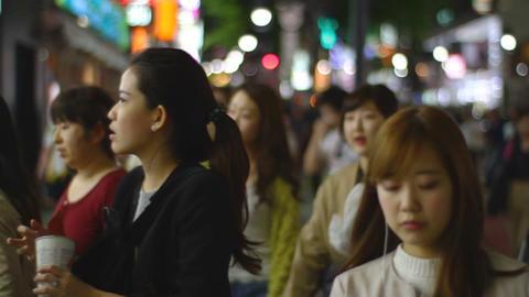 Dougen Street at Shibuya night close shot ビデオ