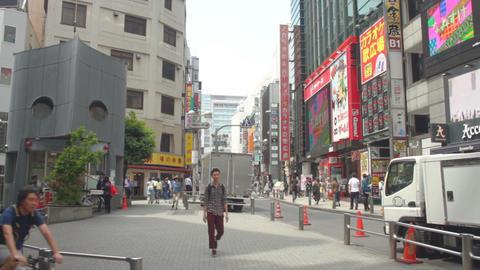 Inokashira Street at Shibuya daytime wide shot ビデオ