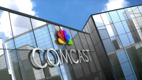 Editorial Comcast on glass building Animation