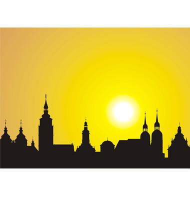 Sunrise over the historic city Fotografía
