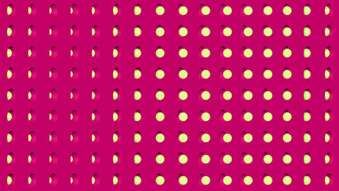 Abstract isometric background yellow spheres vertical wave Animation