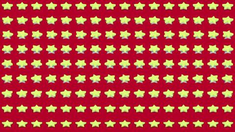 Abstract isometric background yellow stars horizontal wave Animation