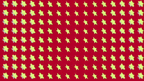 Abstract isometric background yellow stars vertical wave Animation