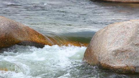 Fresh Water Mountain Stream White Water HD Stock Video Footage