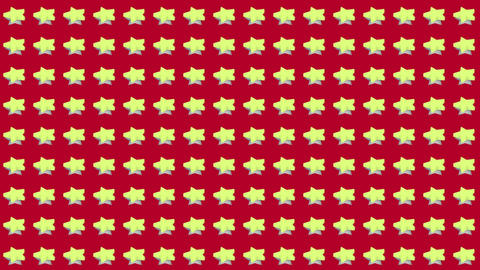 Abstract isometric background yellow stars motion up and down Animation