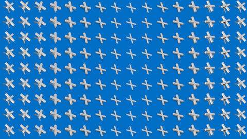Abstract isometric background white crosses pluses vertical wave Animation