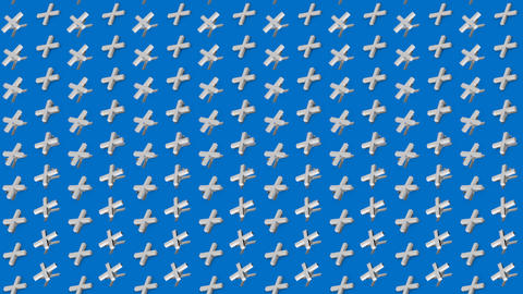 Abstract isometric background white crosses pluses vertical waves motion Animation