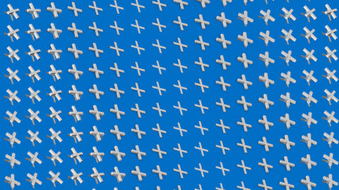 Abstract isometric background white crosses pluses waves motion Animation