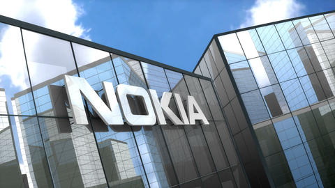 Editorial, Nokia logo on glass building Animation