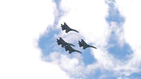 Russian falcons aerobatic team Footage
