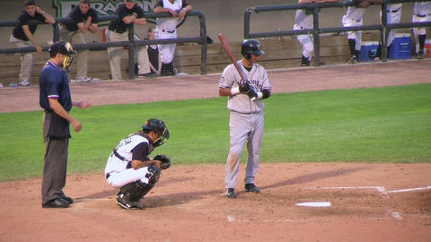 Base Hit Stock Video Footage