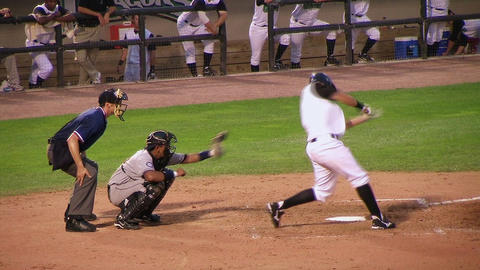 Batter Strikes Out Stock Video Footage