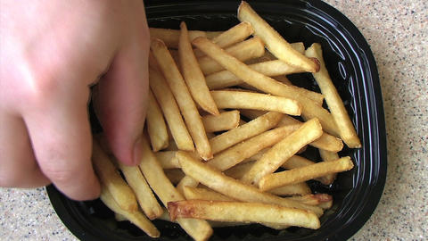 French Fries Time Lapse Stock Video Footage