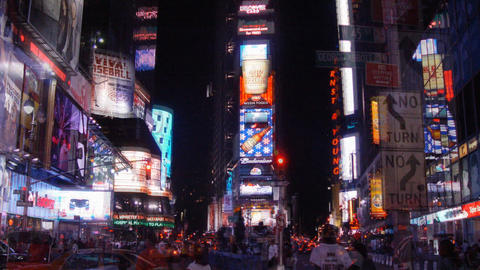 Times Square Photo Sequence Stock Video Footage