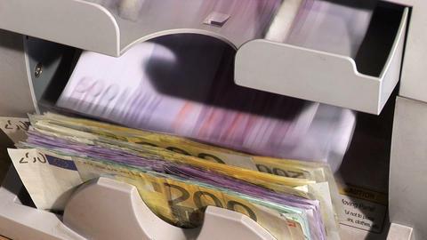 0001 Geldzaehl Maschine1 Stock Video Footage
