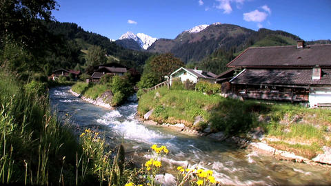 00019 Alpen005 Bach1 Stock Video Footage
