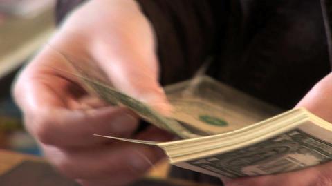 0002a Geldzaehlen Dollar Stock Video Footage