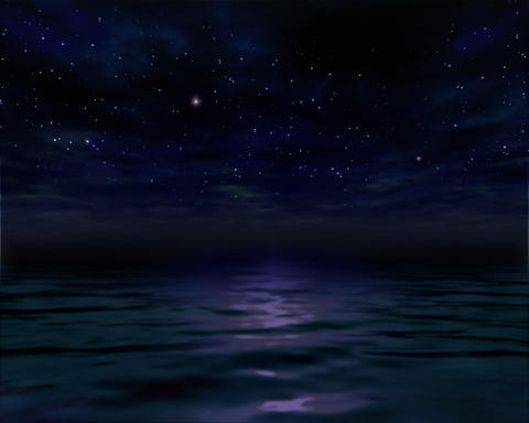 Night Ocean Water Stock Video Footage