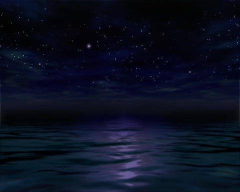 Night Ocean Water Animation