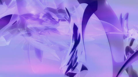 Soft Purple 3D formscape 2 Stock Video Footage