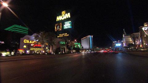 Driving Las Vegas Blvd 3 1 Stock Video Footage