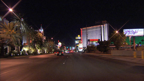 Driving Las Vegas Blvd 4A 1 Stock Video Footage