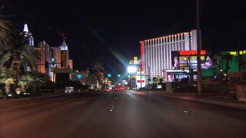 Driving Las Vegas Blvd 4A 1 Stock Video Footage
