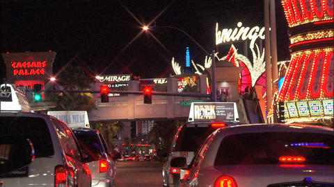 Driving Las Vegas Blvd 5A 1 Stock Video Footage