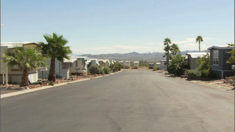 Driving Mobile Home 1 Stock Video Footage