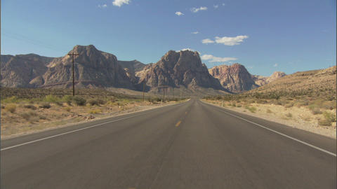 Driving Red Rock 1 Stock Video Footage