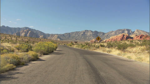 Driving Red Rock Loop 1 Stock Video Footage