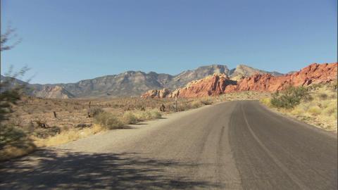 Driving Red Rock Loop 1 Stock Video Footage