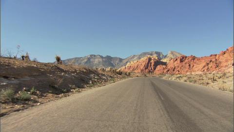 Driving Red Rock Loop 2 1 Stock Video Footage
