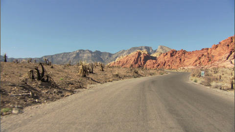 Driving Red Rock Loop 2 1 Stock Video Footage
