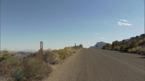 Driving Red Rock Loop Bike 1 Stock Video Footage