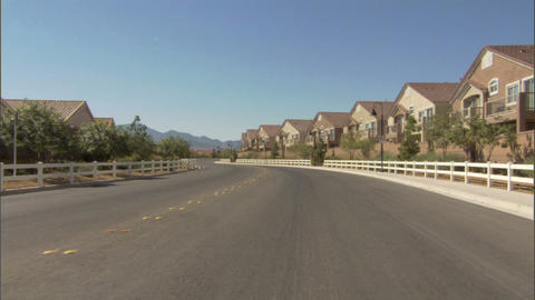 Driving Tract Homes 1 Stock Video Footage
