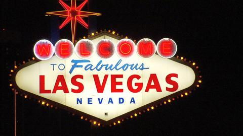 Las Vegas Sign Close 1 Stock Video Footage