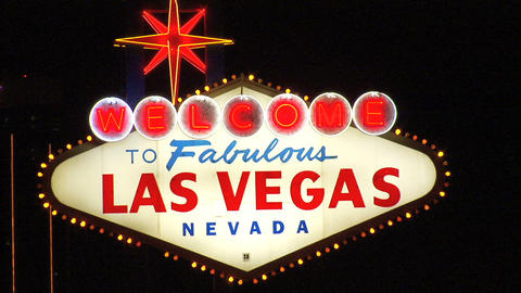 Las Vegas Sign Close 1 Stock Video Footage