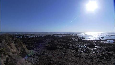 Ocean Sun Flare 1 Stock Video Footage