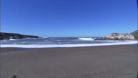 Waves Rocks Wide 1 Stock Video Footage