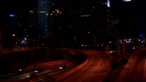 Downtown LA 110 Stock Video Footage