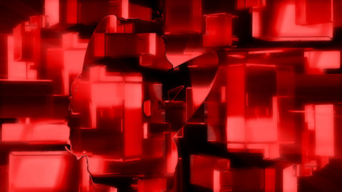 HD Sexy Red Cube Babe PJPEG Stock Video Footage