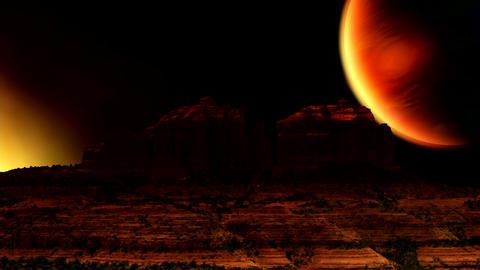 HD Martian SCI FI PJPEG Stock Video Footage