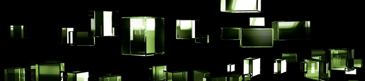 Green Cubic Kryptonite0 Stock Video Footage