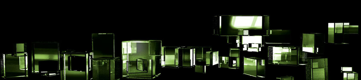 Green Cubic Kryptonite0 Stock Video Footage