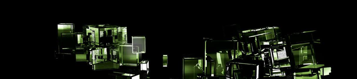 Green Cubic Kryptonite2 Stock Video Footage
