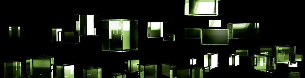 Green Cubic Kryptonite4 Stock Video Footage