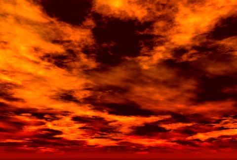 Orange Sky Loop 960 ANA Stock Video Footage